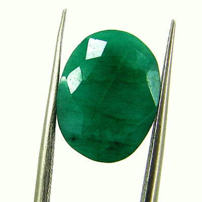 5.93 Ct Certified Natural Green Emerald Loose Oval Cut Gemstone Stone - 131227