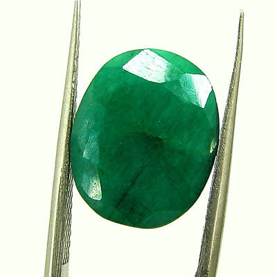 6.33 Ct Certified Natural Green Emerald Loose Oval Cut Gemstone Stone - 131198