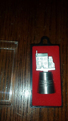 NIP~HI-relief Valley Forge Washington Headquarters Pewter Thimble with topper