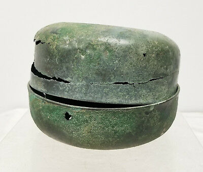 Antique Early Antiquity Covered Bronze Box Excavated Japanese Greco-Roman