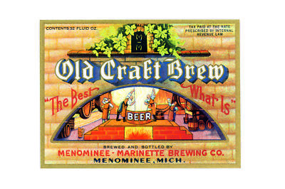 Old craft brew the best beer metal wall plaque sign