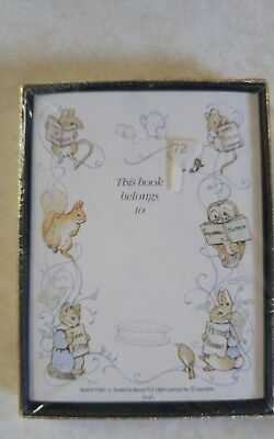 BEATRIX POTTER BOOK PLATES Self Stick New in Package Set of 30 SEALED Vtg 1984