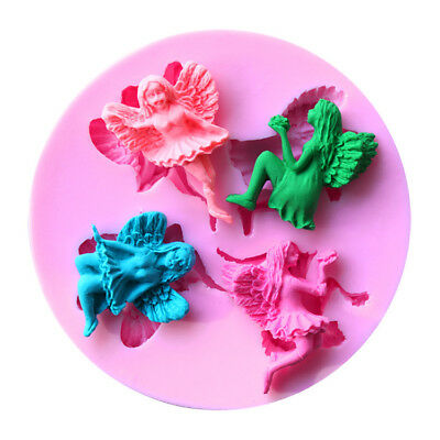 New 3D Silicone Mold Mould 4-Angel shape Flexible For Handmade Soap Candy