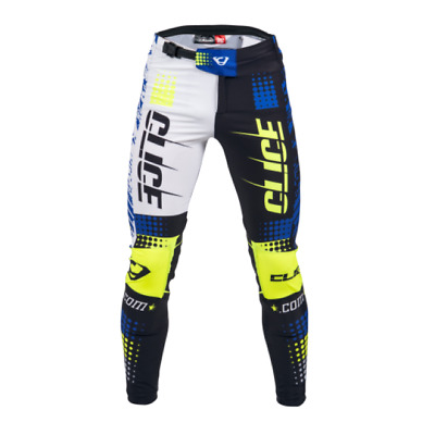 17 XS S M XL XXL Clice Cero Trials Bottoms Trousers blue white yellow black