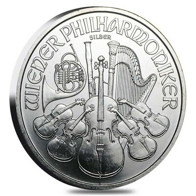 1 oz Austrian Silver Philharmonic (Milky, Cull, Damaged, Circulated, Cleaned)