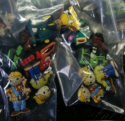 Bob the Builder 6pc Random SHOE CHARMS LOT FOR CROC SHOES JIBBITZ BRACELETS