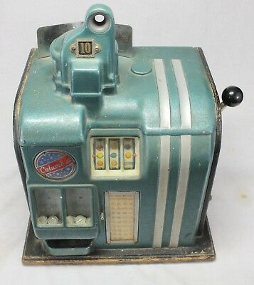 "10¢ Groetchen ""COLUMBIA"" Slot Machine / Trade Stimulator PAY OUT Working 1930's"