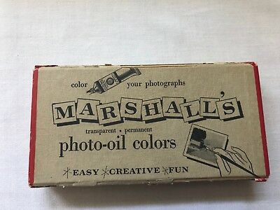 Vintage Marshall's Photo Oil Colors Painting Kit Complete W/ Instructions