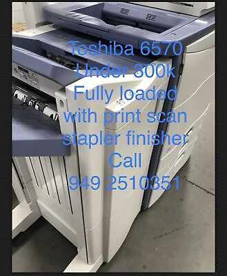 Toshiba estudio 6570c, low meter,print,sort,color Scan,clean,finisher