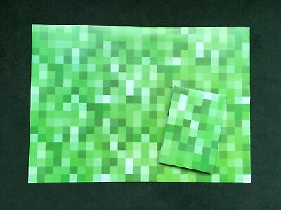 Green Pixel Inspired by Minecraft Creeper Wrapping Paper