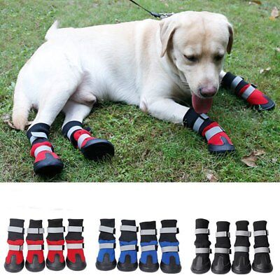 4PCS Anti Slip Pet Snow Boots Protective Shoes Dog Rain Booties Socks Warm S-XL