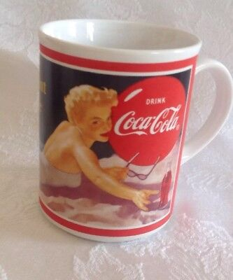 Coca-Cola Through the Years 1950 Coffee Cup Mug What I Want Is A Coke Pin Up