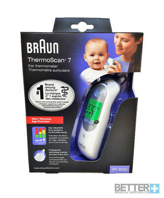 Braun ThermoScan 7 IRT6520 Ear Thermometer BABY/ADULT | BEST PRICE |