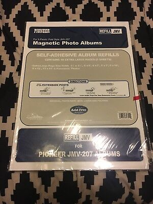 Pioneer Rlm Magnetic Photo Album Refill Pages 825x105 5pkg