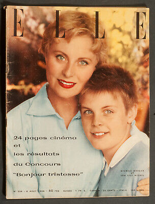 'elle' French Vintage Magazine Cinema Issue Michelle Morgan Cover 6 August 1956