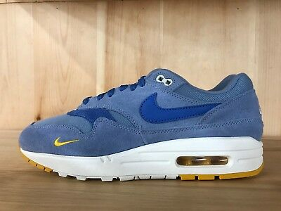c5a5a53ccf42 Nike Air Max 1 Premium Work Blue Mountain Blue Running Mens Sz 8-13 875844