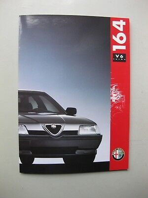 Alfa Romeo 164 V6 turbo prestige brochure Prospekt German text Deutsch 1991
