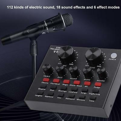 V8 Audio USB Headset Microphone Webcast Live Sound Card for Phone Computer