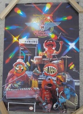 Vintage Muppets Poster 1977 Dr. Teeth And The Electric Mayhem Large Vibrant