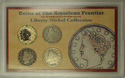 1902-1912 Coins of the American Frontier Liberty Nickel Collection #1791 AHS