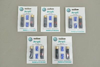 Lot of 5 NEUTRIK ProFi NF2C-B/2 Professional Phono Plug RCA Plug Pair (14765F23)