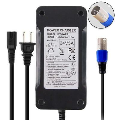 Abakoo New 24V 5A Battery Charger for Electric Scooter, Wheelchair, Mobility 180