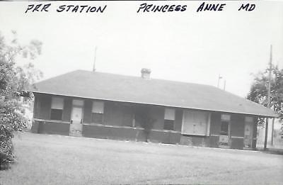 Princess Anne, Maryland Railroad Depot Real Photo Postcard- RPPC