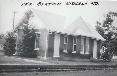Ridgely, Maryland Railroad Depot Real Photo Postcard- RPPC