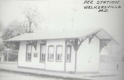 Walkersville, Maryland Railroad Depot Real Photo Postcard- RPPC
