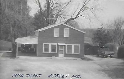 Street, Maryland Railroad Depot Real Photo Postcard- RPPC