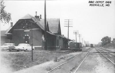 Rockville, Maryland Railroad Depot Real Photo Postcard- RPPC