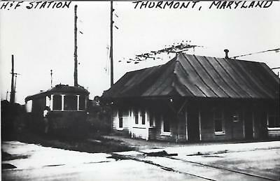 Thurmont, Maryland H&F Railroad Depot Real Photo Postcard- RPPC