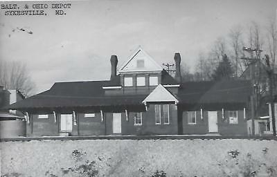 Sykesville, Maryland Railroad Depot Real Photo Postcard- RPPC