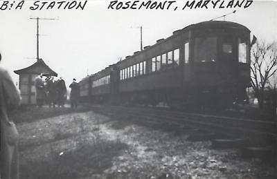 Rosemont, Maryland Railroad Depot Real Photo Postcard- RPPC