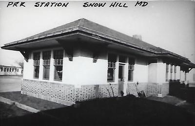Snow Hill, Maryland Railroad Depot Real Photo Postcard- RPPC