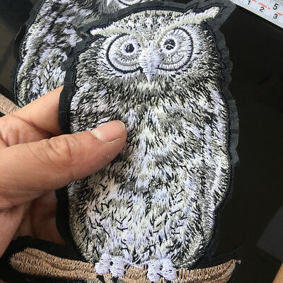Owl Patch Bird Animal Iron on Applique Embroidered Patch Applique Sewing DIY