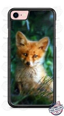 Cute Red Fox Wild Animal in Woods Phone Case Cover for iPhone Samsung LG HTC etc