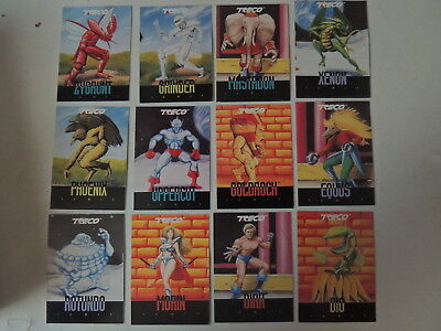 Treco Fighting Masters Set Of 12 Very Rare Cards Morin Rotundo Dio Phoenix C Pic