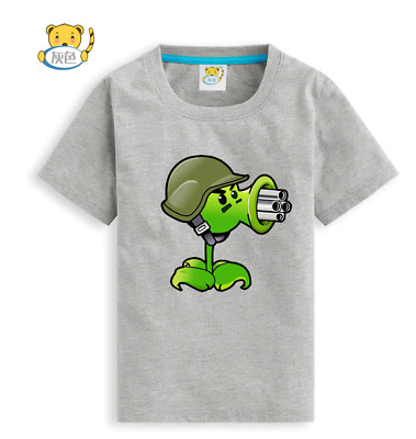 Casual Plants vs. Zombies Children Summer Short Sleeve T-shirt Tees Costume Vest