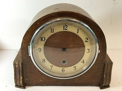 Vintage Mantel Clock Body With Original Face - Empty Case Only - Spares / Repair