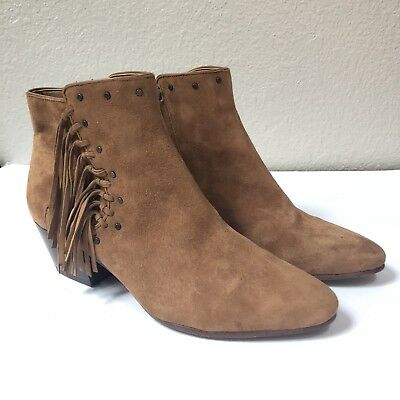 7a95bedbcf86b9 SAM EDELMAN HOLT Spiked Studded Camel Suede Leather Ankle Boots 9 39 ...