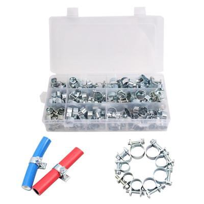 135Pcs 8-18mm Spring Clip Fuel Line Hose Water Pipe Air Tube Clamps Fastener