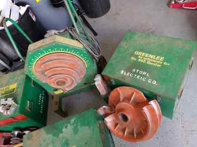 Used Greenlee 555 Conduit Bender With IMC & Rigid Shoe Group Sets
