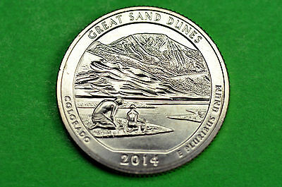 2014-P   BU Mint State ( Great Sand Dunes )  US National Park Quarter