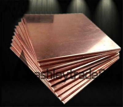 3pcs Copper Metal Sheet Cathode Plate for Hull Cell 0.3mm x 100mm x 65mm  GY