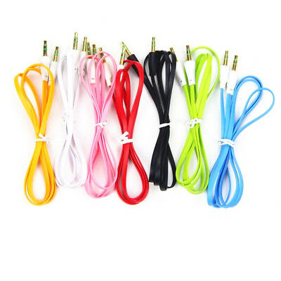 Male to Male Flat Car Stereo Audio Auxiliary AUX Cable Cord For MP3 PC LOT 3.5mm