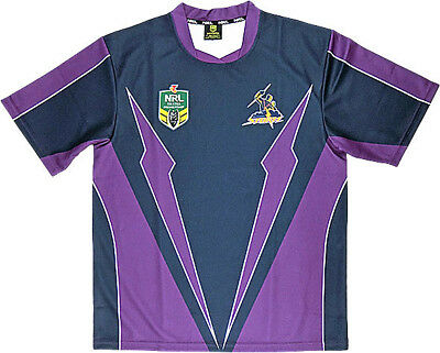 "Nrl Melbourne Storm Adults ""lightning "" Supporter Jersey - Brand New"