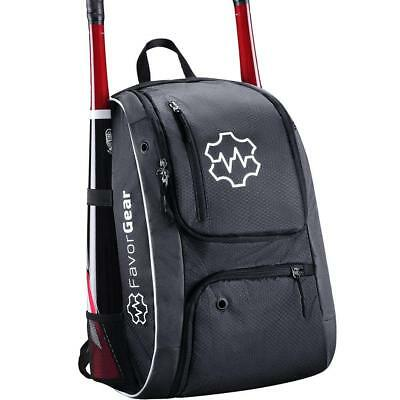 FAVORGEAR Youth Baseball Bag - Backpack for Baseball, T-Ball, Softball Bat Bag