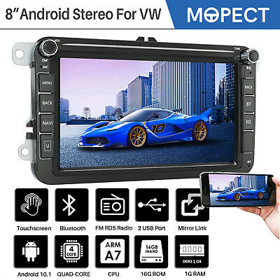 "1 DIN Single 7"" Touch Screen Car MP5 Player GPS Sat NAV BT Radio Camera EU Map"