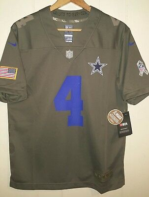 ... cheap dak prescott dallas cowboys salute to service nike jersey youth  large 14 16 nwt ea7eb 80c43b61f